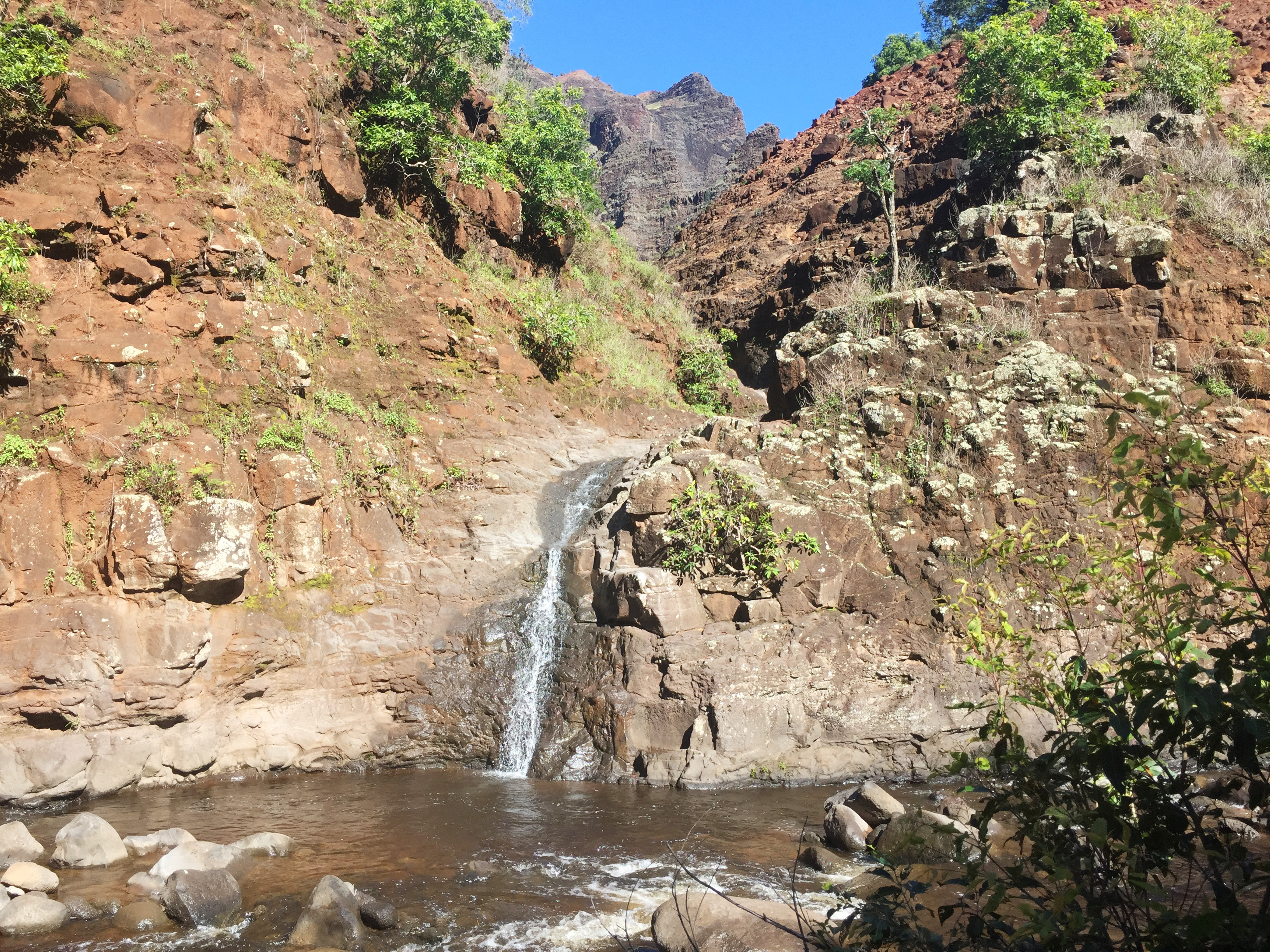 A Delightful Detour to a Waterfall in Waimea Canyon on Kaua'i
